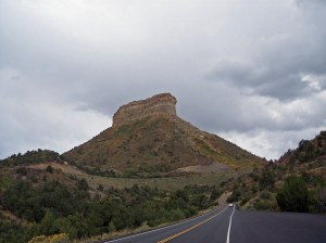 The road to Mesa Verde, Colorado.