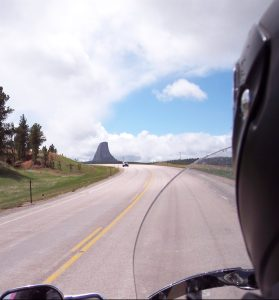 The road to Devils Tower, Wyoming